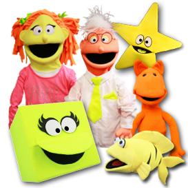 Blacklight Puppets